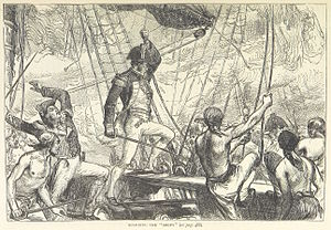 USS Argus (1803) - The British prepare to board Argus