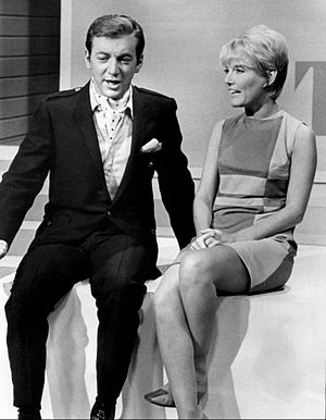 Hullabaloo (TV series) - Singer Petula Clark, here with singer Bobby Darin, was one of the guest hosts.