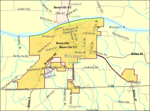 Boonville, Missouri - Image: Boonville map