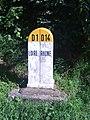 Borne de limite de département Rhône - Loire, route du col de la Croix Casard.JPG