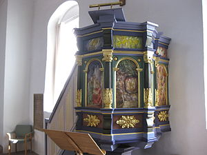 Nexø Church - The decorated pulpit
