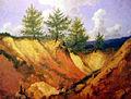 Bouchard Pejzaż z trzema świerkami 1860-1869.jpg