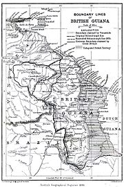 Boundary lines of British Guiana 1896