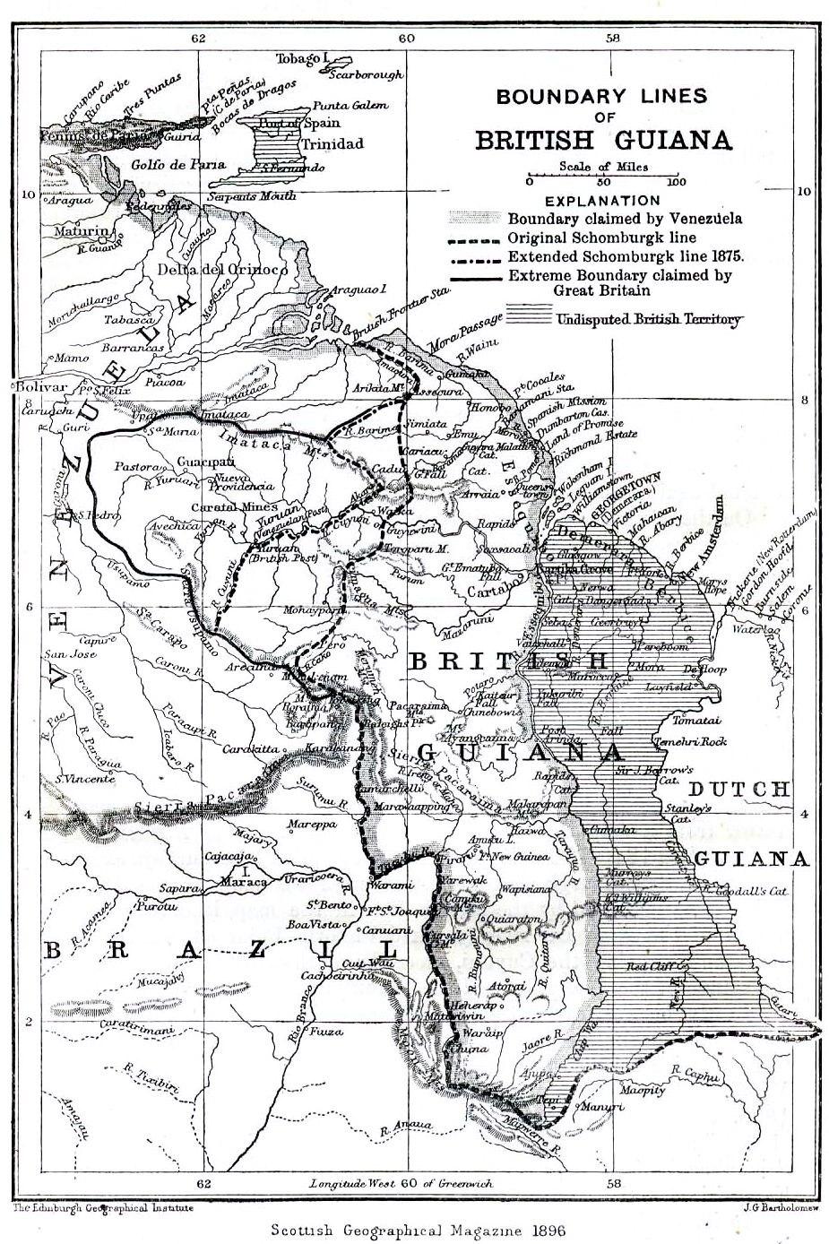 Boundary lines of British Guiana 1896