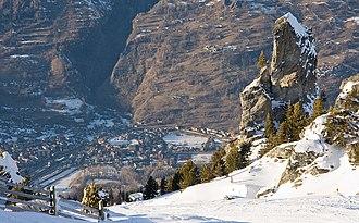 Bourg-Saint-Maurice - Bourg-St-Maurice view from Les Arcs ski resort