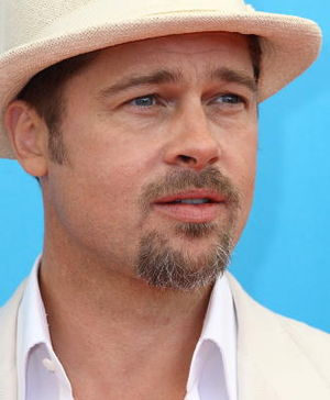 Brad Pitt at the Burn After Reading premiere