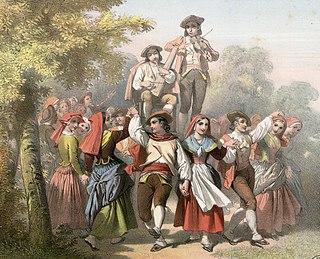 Branle medieval dance