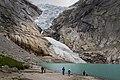 Briksdalsbreen with glacial lake, Sogn og Fjordane, Norway, 2013 June.jpg