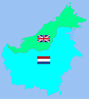 British Borneo - Image: British Borneo and Dutch Borneo