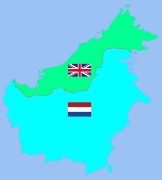 British Borneo - Image: British Borneo and Dutch Borneo