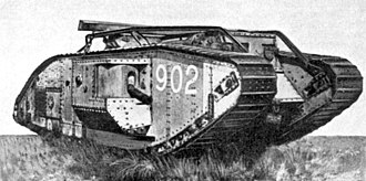 Armoured fighting vehicle - British World War I Mark V* tank