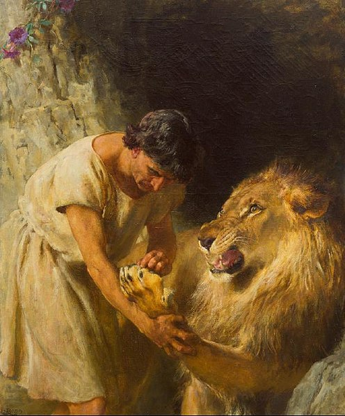 File:Briton Riviere - Androcles and the Lion - 1915-3 - Auckland Art Gallery.jpg