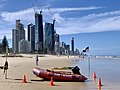 Broadbeach Surf Life Saving Club and Surfers Paradise skyscrapers, Queensland 02.jpg