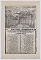 Broadsheet relating to the execution of a murderer named Dionisio Silverio, a firing squad in the upper section MET DP868519.jpg