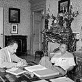 Bruno Pontecorvo and Enrico Fermi 1950s2.jpg