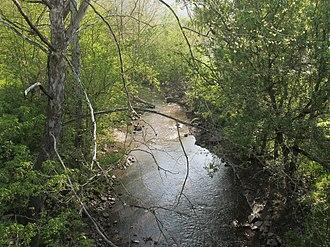 Buckeye Creek (West Virginia) - Buckeye Creek east of Smithburg, West Virginia