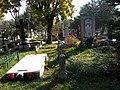 Bucuresti, Romania. Cimitirul Bellu Catolic. Mormantul lui Ludovic Mrazec in apropierea Ingerului.. 21.10.2017.jpg