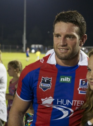 Danny Buderus - Buderus playing for the Knights in 2012