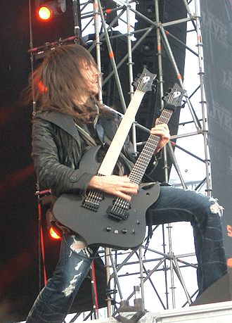 "Ron ""Bumblefoot"" Thal - Bumblefoot performing live with Guns N' Roses in Helsinki, Finland on June 5, 2010."