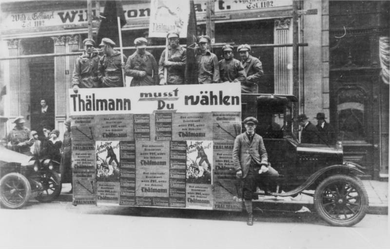 Bundesarchiv Bild 183-14686-0026, Essen, Reichspräsidentenwahl, KPD-Wahlwerbung