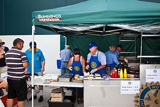 Bunnings Warehouse - A Bunnings sausage sizzle operated by the Rotary Club of Nelson Bay