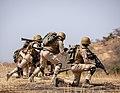 Burkinabe soldiers conduct presence patrols during Flintlock 20 (50111181317).jpg