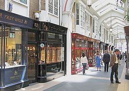 A Burlington Arcade em Mayfair
