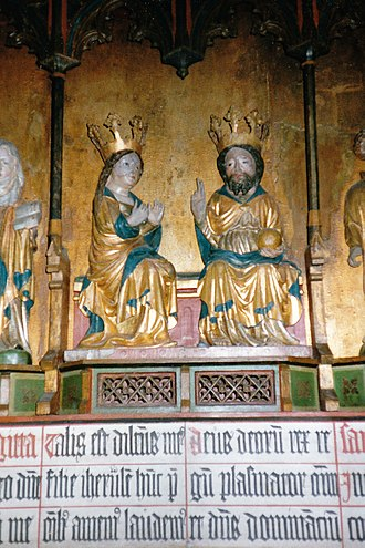Burs Church - Detail of the altarpiece (15th century)