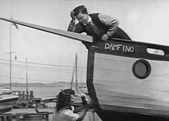 The Boat (film) - Still with Buster Keaton and Sybil Seely