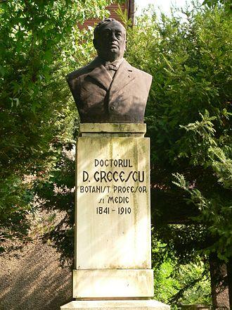 Dimitrie Grecescu - Bust of Grecescu in the Bucharest Botanical Garden