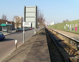 Butetown - Bute Street (left) and the Butetown Branch Line (right)
