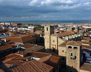 View of the old town and its surroundings.