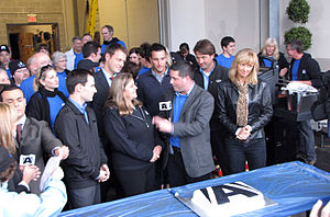 CKVR-DT - Various staff of CKVR at a 2010 open house. Front row from left: Mike Arsalides (holding paper), Tony Grace, former station manager Peggy Hebden, Rob Cooper, Jayne Pritchard.