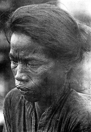 Laut Island - A woman of Laut descent in Solok, Jambi southern Sumatra