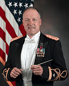 Colonel Thomas Palmatier in the evening variant of the Army Mess Dress Uniform