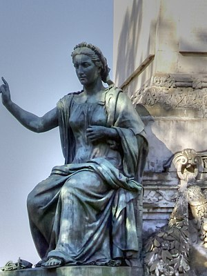 Freedom of religion - Nineteenth century allegorical statue on the Congress Column in Belgium depicting religious freedom