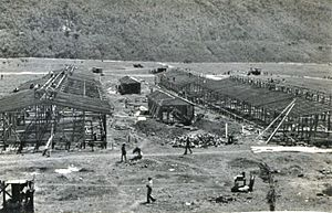 Evacuation of the Gibraltarian civilian population during World War II - Construction of the buildings in Jamaica