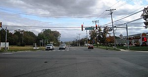 County Route 547 (New Jersey) - Beginning of the CR 528 / CR 547 concurrency in Jackson Township