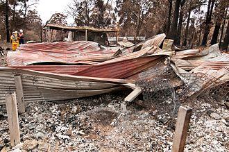 Kinglake, Victoria - CSIRO conducting bushfire research at Kinglake after the Black Saturday bushfires