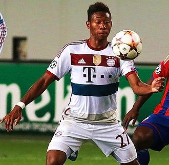 David Alaba - Alaba playing for Bayern Munich in 2014