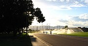 Looking west towards the Intramural Fields on CSU Campus.