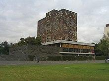 Mexico Biblioteca central de la Universidad Nacional Autonoma de Mexico en Ciudad Universitaria en Mexico, D. F..