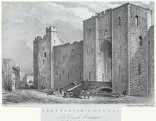 Caernarvon Castle: the grand entrance