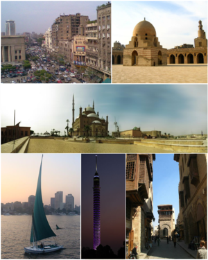 Photo montage of Cairo, Egypt.