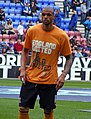 Caleb Folan warms up, Wigan Athletic vs Hull City, 3rd May 2010.jpg