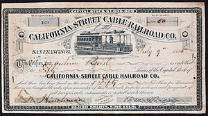 California Street Cable Railroad - Image: California Street Cable RR 1885