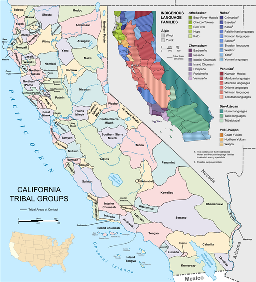 California tribes & languages at contact