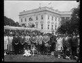 Calvin Coolidge and group outside White House, Washington, D.C. LCCN2016888839.tif