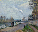 Camille Jacob Pissarro - The Oise near Pontoise in Grey Weather - Google Art Project.jpg