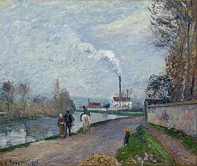 L'Oise à Pontoise, temps gris